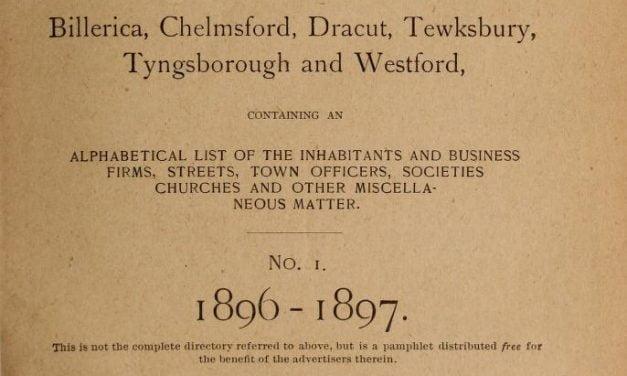 Lowell Massachusetts Suburban Directories 1896-1926