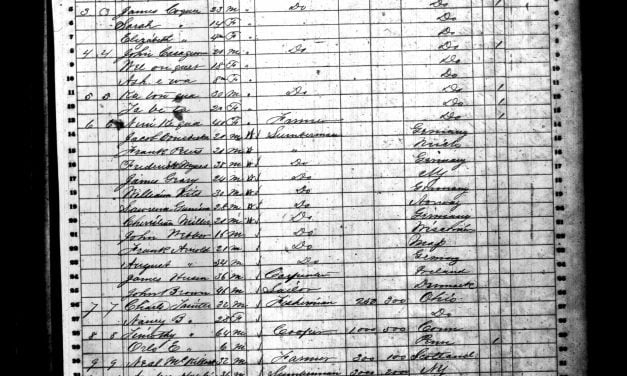 Indians in Mason County Michigan 1860 Census
