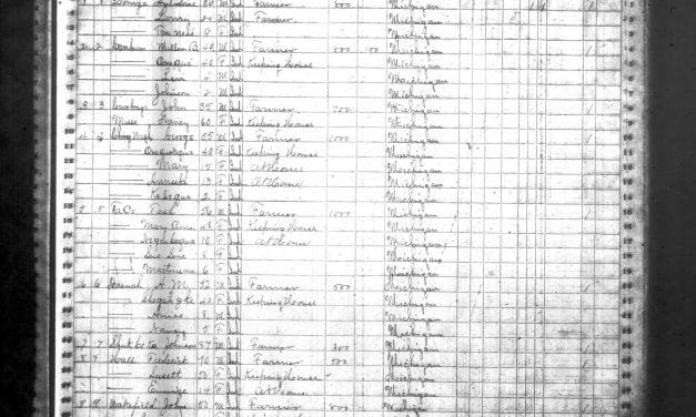 Indians in Mason County Michigan 1870 Census