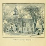 Pawtucket Church erected in 1794 in Lowell Massachusetts