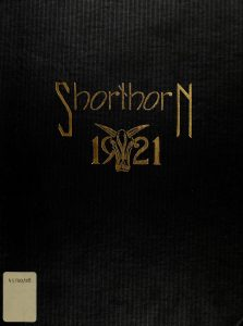 Stockbridge School of Agriculture Shorthorn Yearbook Cover for 1921
