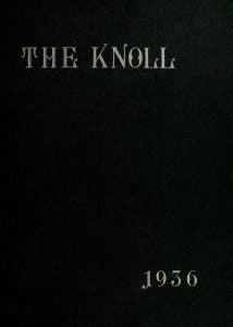 The Knoll, State Teachers College Annual 1936