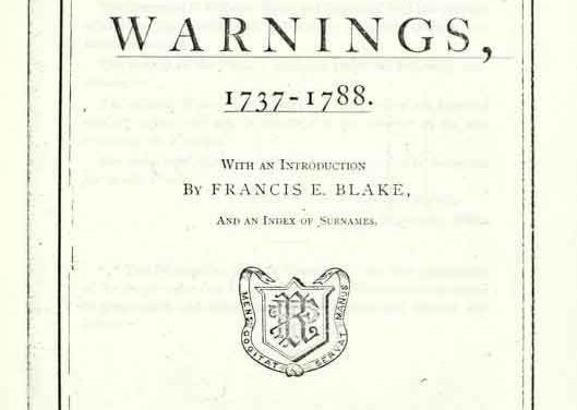 Brookfield Massachusetts Warnings 1737-1788