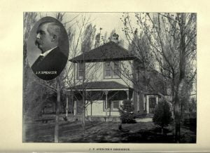 J. F. Spencer and his Residence