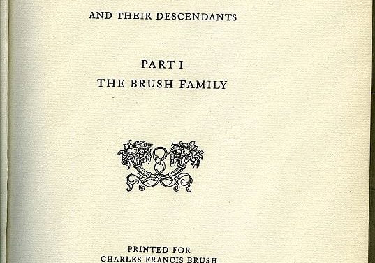 A Genealogy of Isaac Elbert Brush