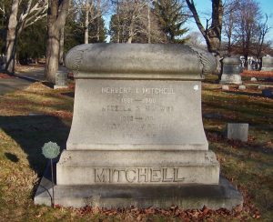 Gravestone of Herbert I Mitchell, his wife, and his son.