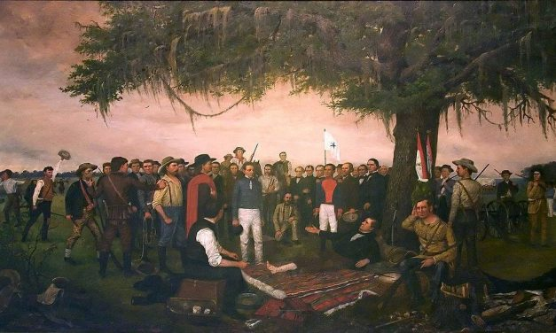 Governor Houston at His Trading Post on the Verdigris