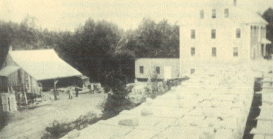 Reuben Loud's Mill at Mill Street. Source: Weymouth 350 Anniversary Booklet