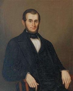 William Allen Wall painting showing Abraham H. Howland in color