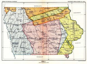 Cession of Indian Lands in Iowa, Map 1