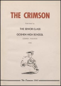 1940 Goshen High School Yearbooks - The Crimson