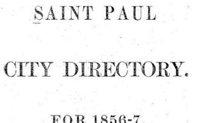 St. Paul Minnesota Directories 1856-1922 and 1981