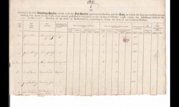 The Massachusetts Tax Valuation List of 1771