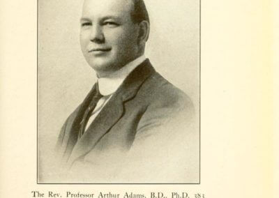 Rev. Professor Arthur Adams, B.D., Ph.D. 383