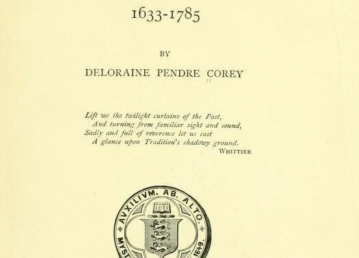The History of Malden, Massachusetts, 1633-1785