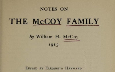 Notes on the McCoy Family